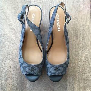 Coach wedge platform shoes